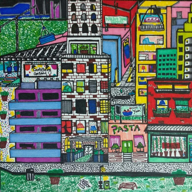 Colourful City, Ink (2018)