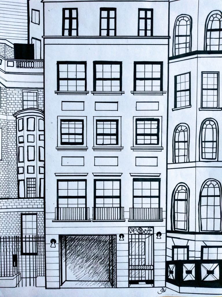Townhouse 2, Ink, (2019)