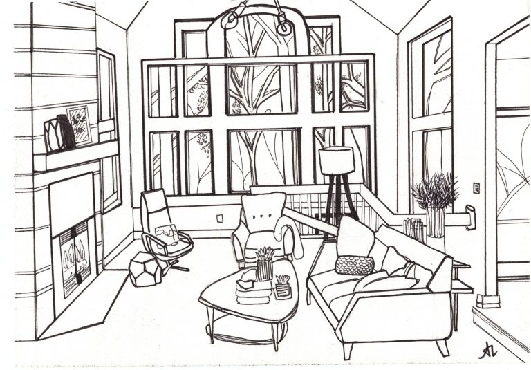 Living Room, Ink (2019)